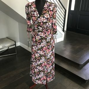 WAFY floral maxi dress, 2 front half slits S
